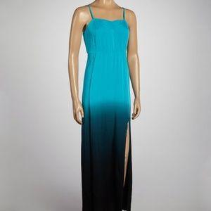 Volcom Blue Ombré Maxi Dress